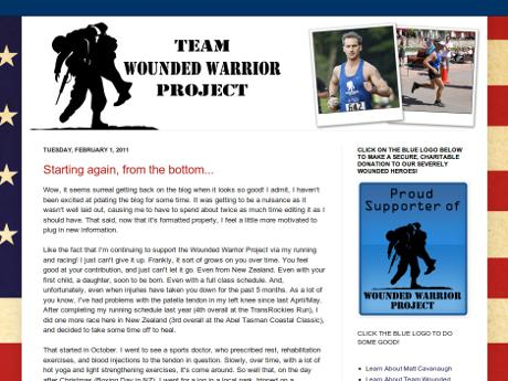 Matt Cavanaugh's Team Wounded Warrior Project