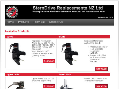 Sterndrive Replacements